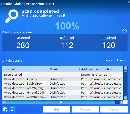 Panda Global Protection Screenshot